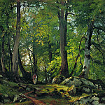 Beech forest in Switzerland, 1863-1864 85. 5h124, Ivan Ivanovich Shishkin