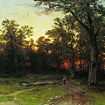 Forest evening 1868-1869 80 6h120, 6, Ivan Ivanovich Shishkin