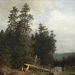 On the edge of the forest, Ivan Ivanovich Shishkin