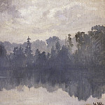 Krestovsky Island in the mist. 1880-1890-e 27, 2х36, 2, Ivan Ivanovich Shishkin