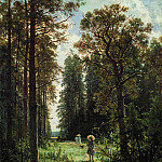 track in the woods 1880 59x48, Ivan Ivanovich Shishkin