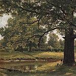 Ivan Ivanovich Shishkin - Oaks in Old Peterhof 1891 70h105