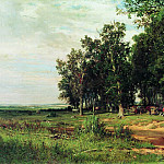 At mowing in an oak grove 1874 103h167, Ivan Ivanovich Shishkin