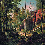 View on the island of Valaam. Location Kukko1858-60 69h87, Ivan Ivanovich Shishkin