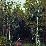 Ivan Ivanovich Shishkin - Landscape with a figure of 1872 59x48. 5