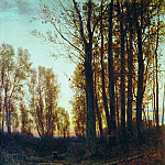 Twilight. Sunset. 1879 94, 5h75, 5, Ivan Ivanovich Shishkin