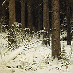 Ivan Ivanovich Shishkin - spruce forest in winter 1884 140h95