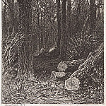 On felling. 1873 15. 4x10, 7, Ivan Ivanovich Shishkin