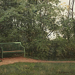 bench in the alley 1872, Ivan Ivanovich Shishkin