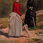 Two female figures 1880 29. 3h22. 8, Ivan Ivanovich Shishkin