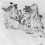 Pines on cliffs 1879 26, 4h32, 3, Ivan Ivanovich Shishkin