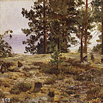 On the sandy soil. Mary Howie on the Finnish railway. 1889 35, 5h50, Ivan Ivanovich Shishkin