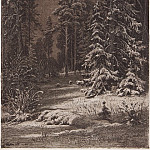 Winter moonlit night. 1876-1892 30, 5h23. 5, Ivan Ivanovich Shishkin