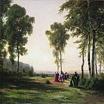 Ivan Ivanovich Shishkin - Landscape with strollers 1869 31, 5h41, 5