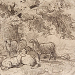 Sheep under a tree. 1862-1864 13, 5h19. 6, Ivan Ivanovich Shishkin