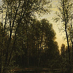 River backwater in forest 1889-1890 52h47, Ivan Ivanovich Shishkin
