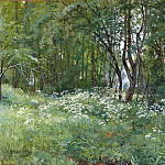 Flowers on the edge of the forest in 1893 42h67, Ivan Ivanovich Shishkin