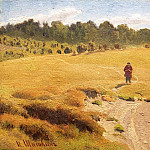 Boy in the field. Etude, Ivan Ivanovich Shishkin
