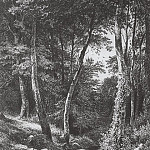 Stream in the woods. 1870 21, 8h15, 2, Ivan Ivanovich Shishkin