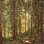 Stream in the woods. Siverskaya. Etude, Ivan Ivanovich Shishkin