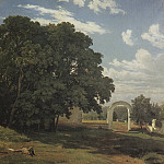 For the church fence. Balaam 1867 92h138, Ivan Ivanovich Shishkin