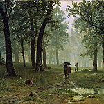 Rain in the oak forest, Ivan Ivanovich Shishkin