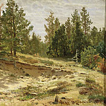Young pines in the sandy cliff 1890 33h59, Ivan Ivanovich Shishkin
