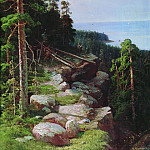 Above the quay 1887, Ivan Ivanovich Shishkin