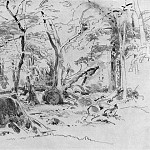 felled tree 1870 23h32, Ivan Ivanovich Shishkin