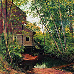 mill in the forest. Preobrazhenskoe 1897 95h136, Ivan Ivanovich Shishkin