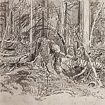 Forest blockage. The second half of 1870 19, 9h31, 7, Ivan Ivanovich Shishkin