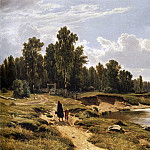 Ivan Ivanovich Shishkin - Ligovka river in the village Kostiantynivka near St. Petersburg. 1869 102, 5h160. 5