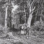 Road in the woods. 1869 28, 3h20, 3, Ivan Ivanovich Shishkin