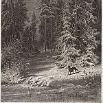 Winter night. 1876 34, 3h25. 5, Ivan Ivanovich Shishkin