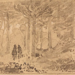 Two in the woods. Late 1880 – early 1890s, 9, 8h14, 7, Ivan Ivanovich Shishkin