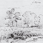 Sketch for the painting Rye 1878 14, 4h23, 6, Ivan Ivanovich Shishkin