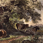 A herd of cows on vacation. 1862-1864 12, 3h19, 6, Ivan Ivanovich Shishkin
