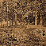 Ivan Ivanovich Shishkin - Edge of the Forest (spruce forest) 1890 44, 364, 7