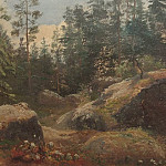 Boulders in the woods, Ivan Ivanovich Shishkin