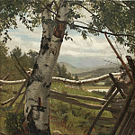 Summer landscape with birch, Ivan Ivanovich Shishkin