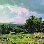 Ivan Ivanovich Shishkin - Type in the vicinity of Düsseldorf 1865 106h151