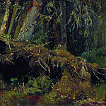 deadfall 1880 Oil on board 26. 3h36. 1, Ivan Ivanovich Shishkin