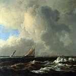 Vessels in a Fresh Breeze, Jacob Van Ruisdael