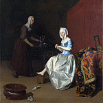 Part 4 National Gallery UK - Jacob Ochtervelt - A Young Lady Trimming her Fingernails