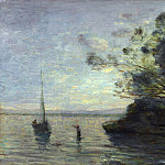 Evening on the Lake, Jean-Baptiste-Camille Corot