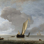 A Small Dutch Vessel before a Light Breeze, van de Jan Capelle