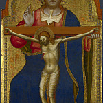 Jacopo di Cione and workshop – The Trinity – Central Pinnacle Panel, Part 4 National Gallery UK