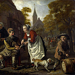 Part 4 National Gallery UK - Jan Victors - A Village Scene with a Cobbler