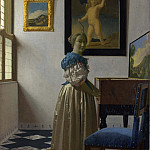 Part 4 National Gallery UK - Johannes Vermeer - A Young Woman standing at a Virginal
