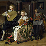 Part 4 National Gallery UK - Jan Molenaer - A Young Man and Woman making Music